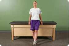 Standing adduction without resistance